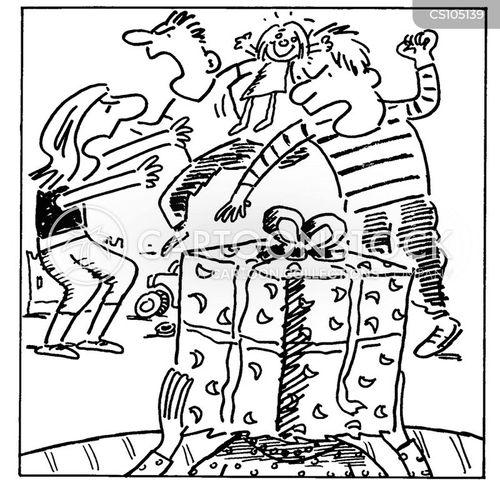 quarrelling cartoon