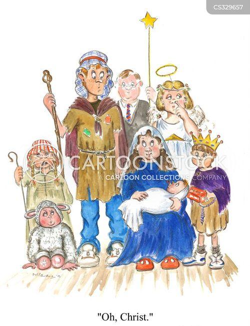 nativity play cartoon