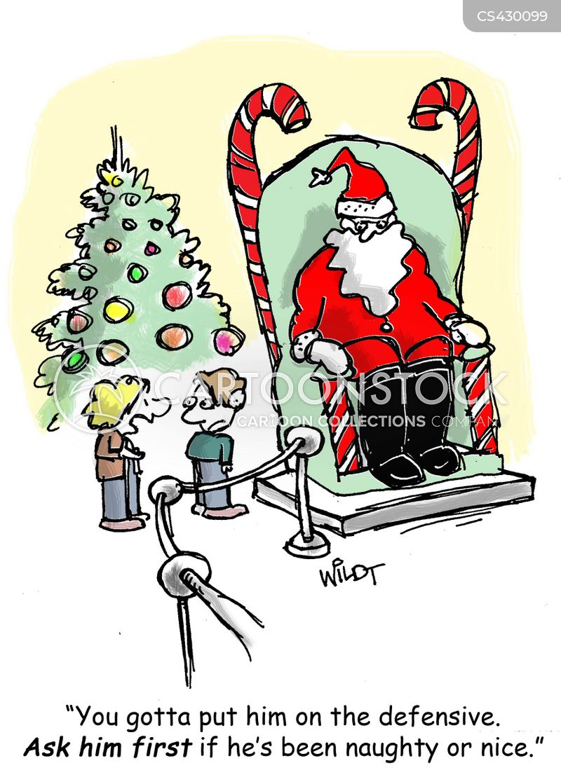 xmas list cartoon
