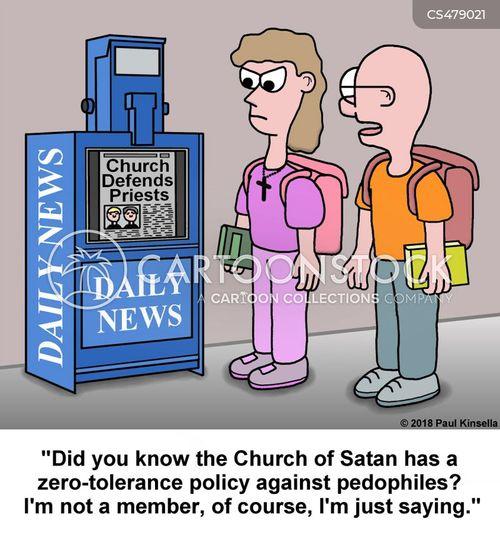 child abuse scandals cartoon