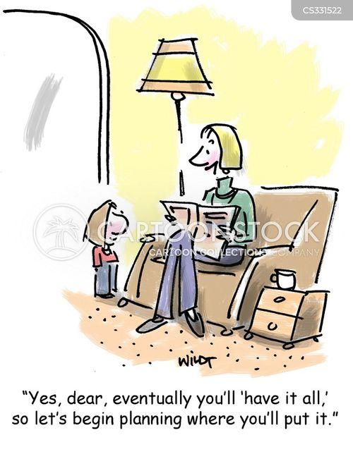 cluttering cartoon