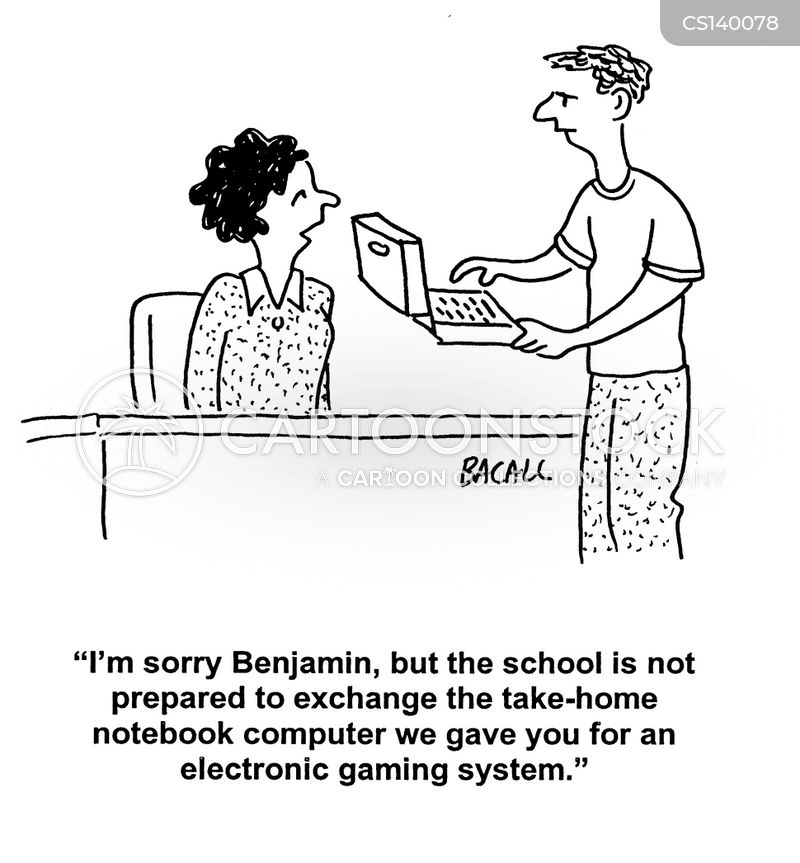 electronic gaming systems cartoon