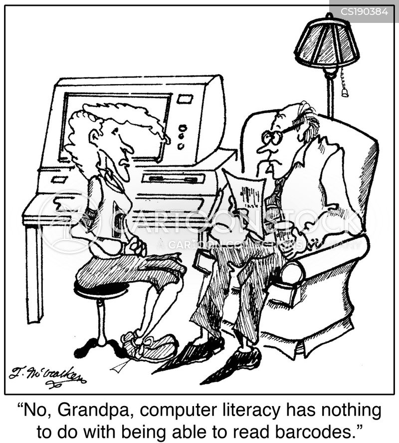 computer literacy cartoon
