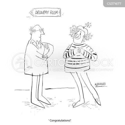 delivery room cartoon