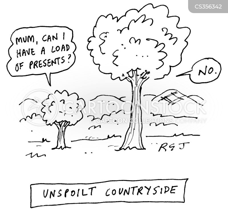 unspoilt countryside cartoon
