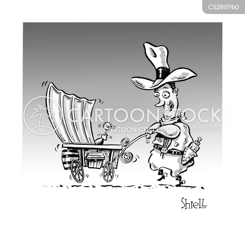 covered wagon cartoon