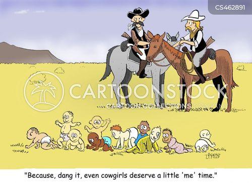 wrangling cartoon