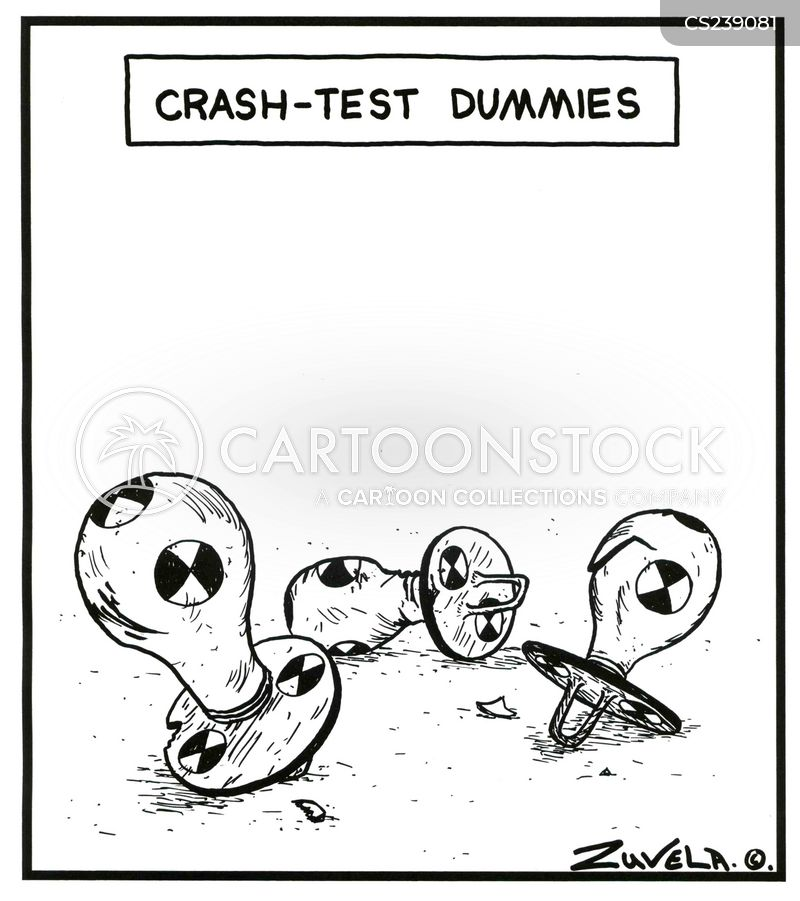 crash-test cartoon