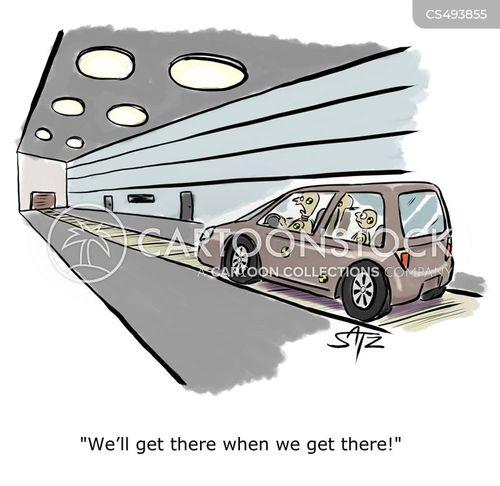 auto safety cartoon