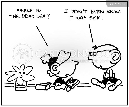 dead sea cartoon