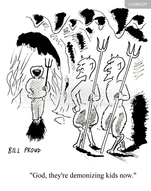 demonizing cartoon