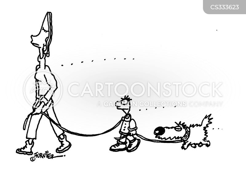 tight leash cartoon