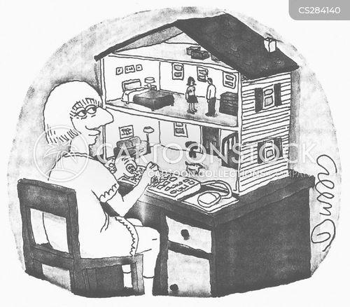 doll houses cartoon