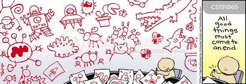 budding artists cartoon