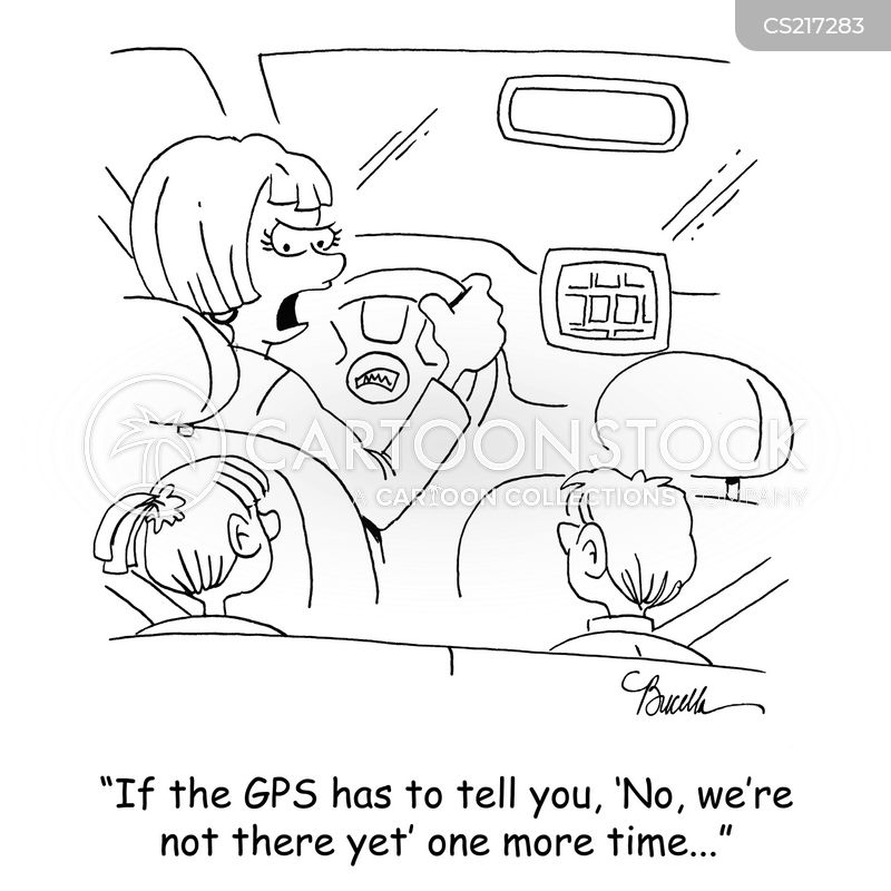 ask for directions cartoon