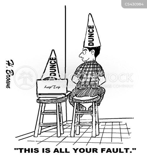 dunce cap cartoon
