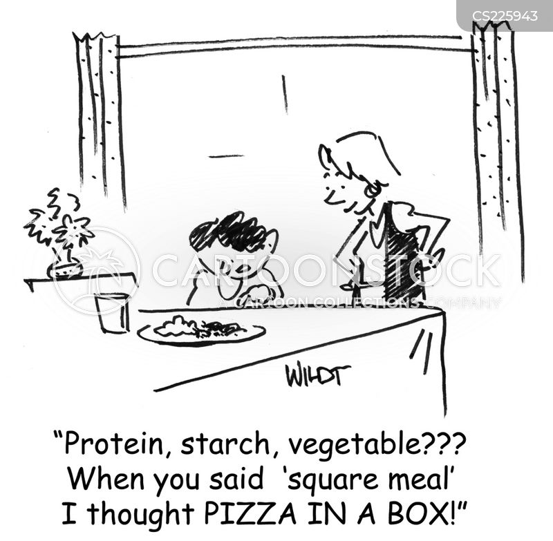 square meal cartoon