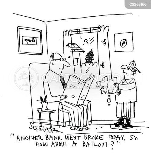 economic depression cartoon
