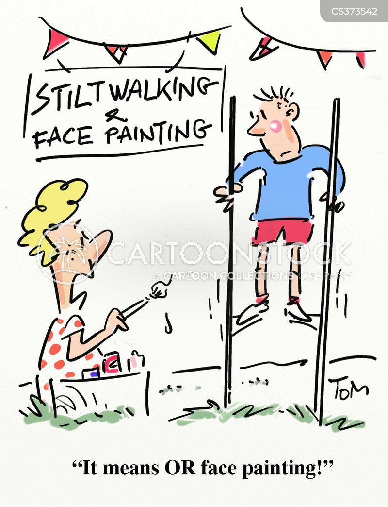 face painting cartoon