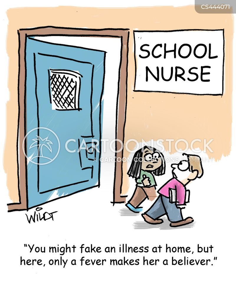 school nurses cartoon