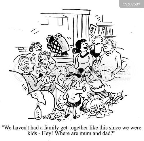 get-together cartoon
