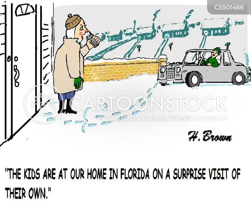 unexpected visitors cartoon
