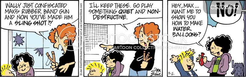 destructive children cartoon