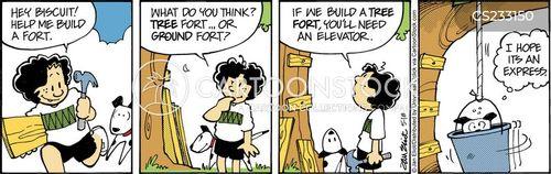 making tree forts cartoon