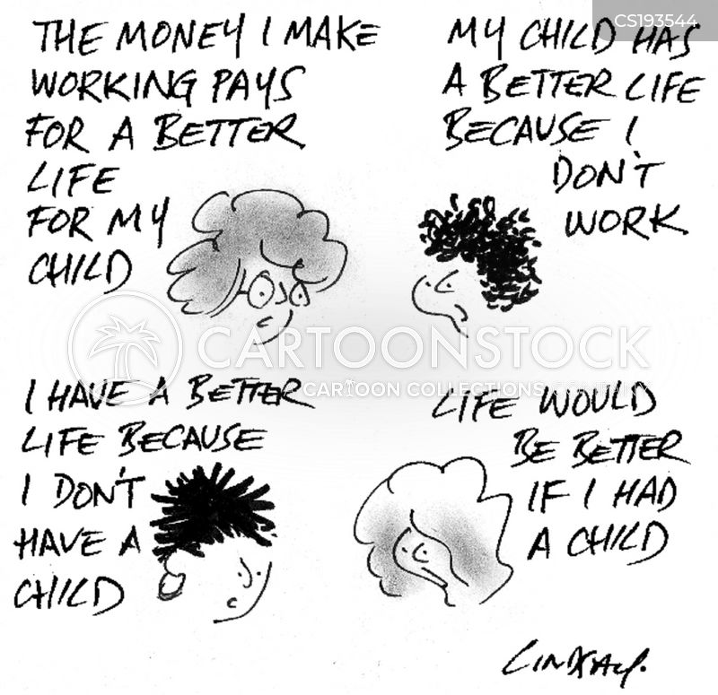 single parents cartoon