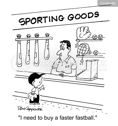 fast ball cartoon