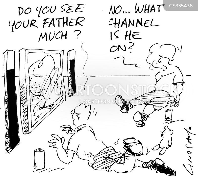 absent fathers cartoon