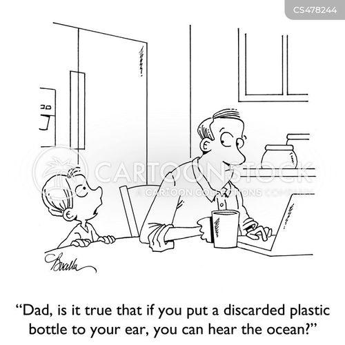 plastic bottle cartoon