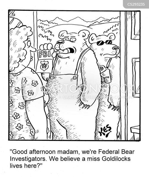 the three bears cartoon