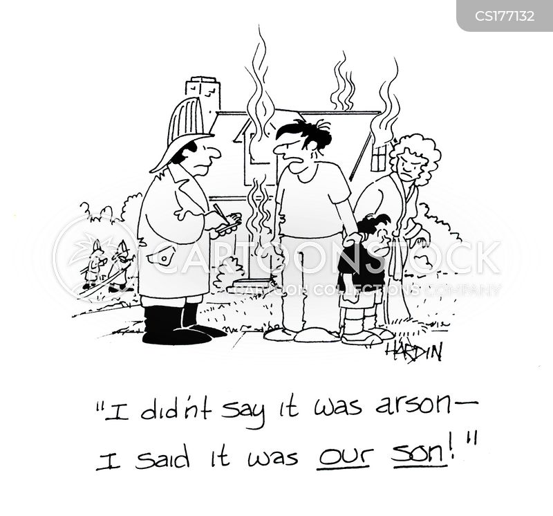 burning building cartoon