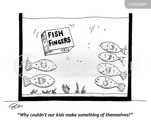 fish fingers cartoon