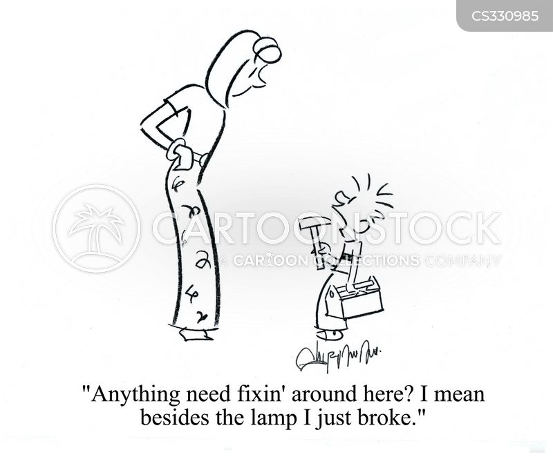 broken lamps cartoon