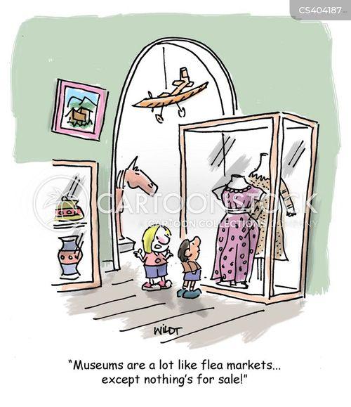 flea markets cartoon