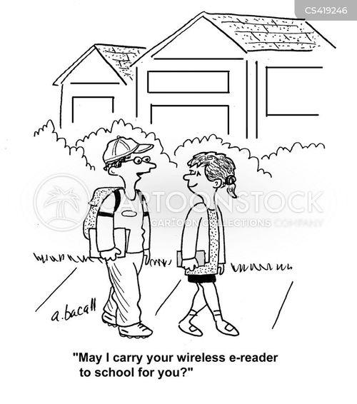 e reader cartoon