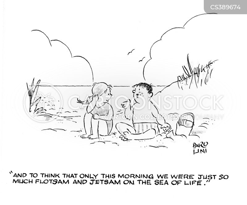 washed ashore cartoon
