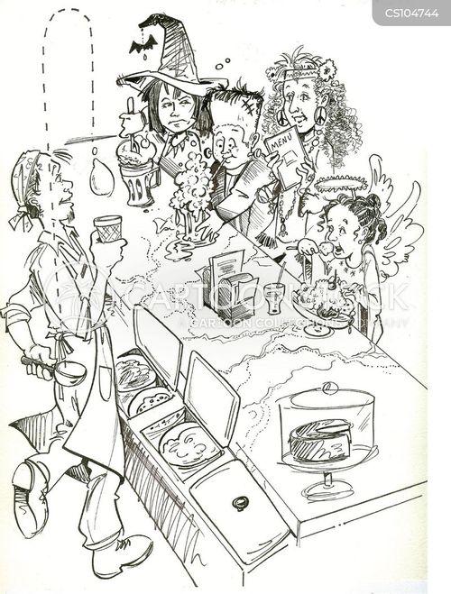 ice cream parlours cartoon