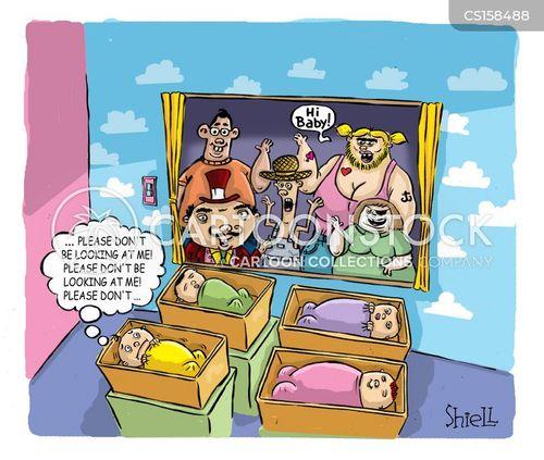 unusual family cartoon