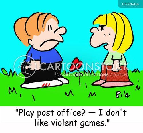 violent games cartoon