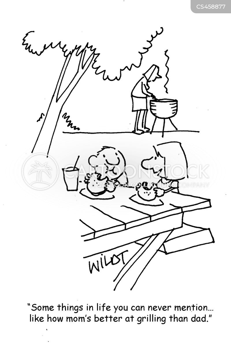 cooking out cartoon