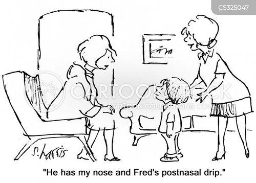 runny noses cartoon