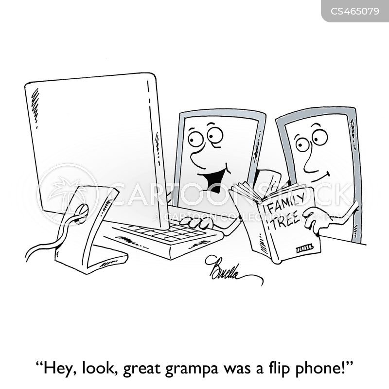 flip phones cartoon
