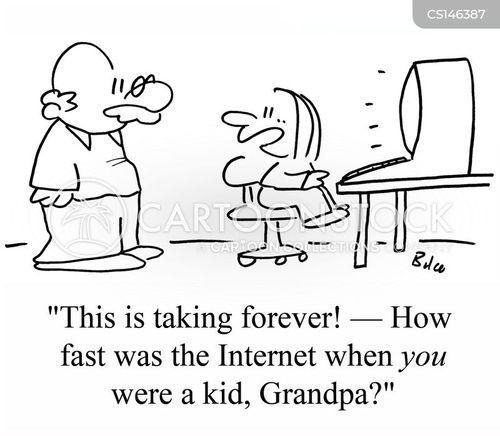 internet speed cartoon