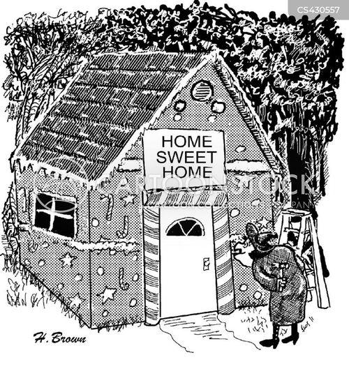 gingerbread cottage cartoon