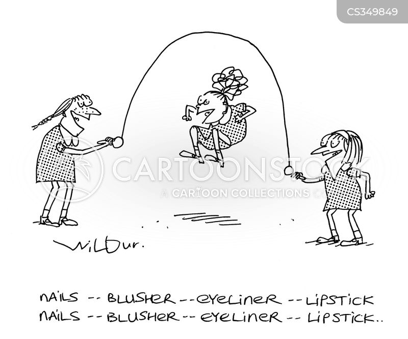 skipping rope cartoon