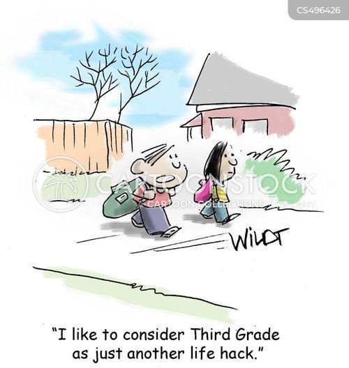 life hack cartoon