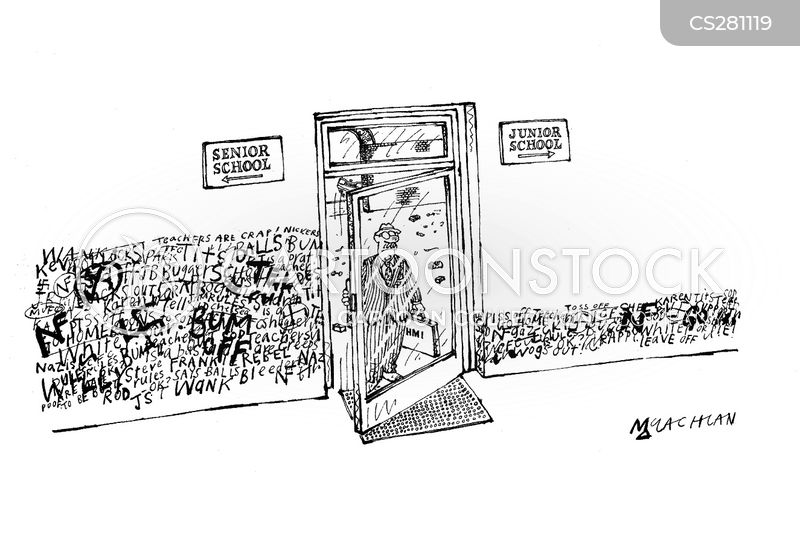 senior school cartoon